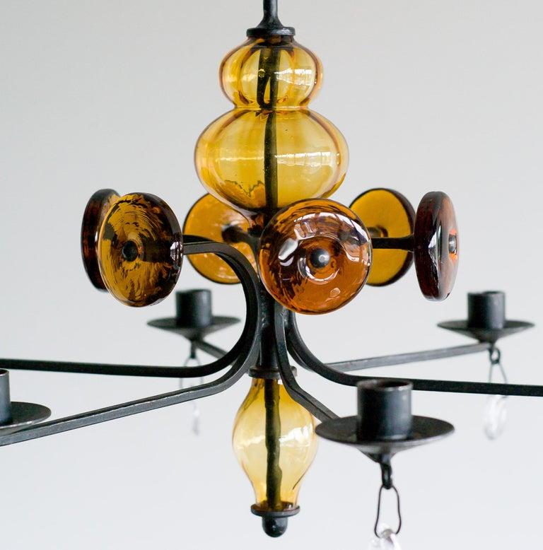 Swedish Candelabrum by Erik Hoglund for Boda Glasbruk For Sale