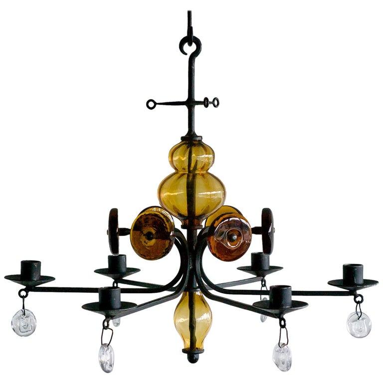 Candelabrum by Erik Hoglund for Boda Glasbruk For Sale