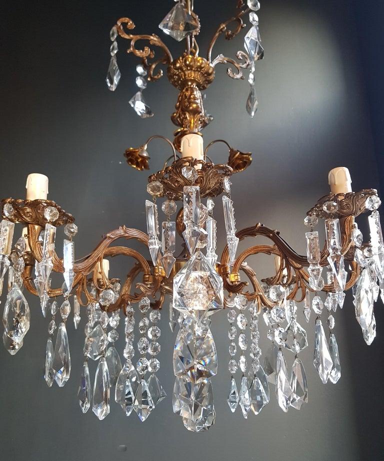 Candelabrum Chandelier Crystal Brass Lustre Ceiling Lamp  1