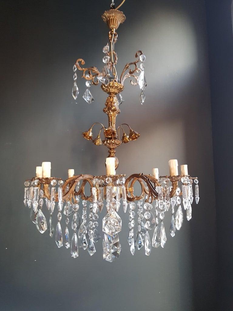 Candelabrum Chandelier Crystal Brass Lustre Ceiling Lamp  2