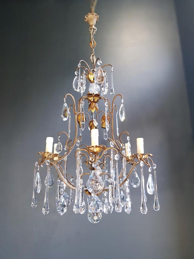 Candelabrum Chandelier Crystal Ceiling Lamp Antique Art Nouveau Pendant Lighting 10