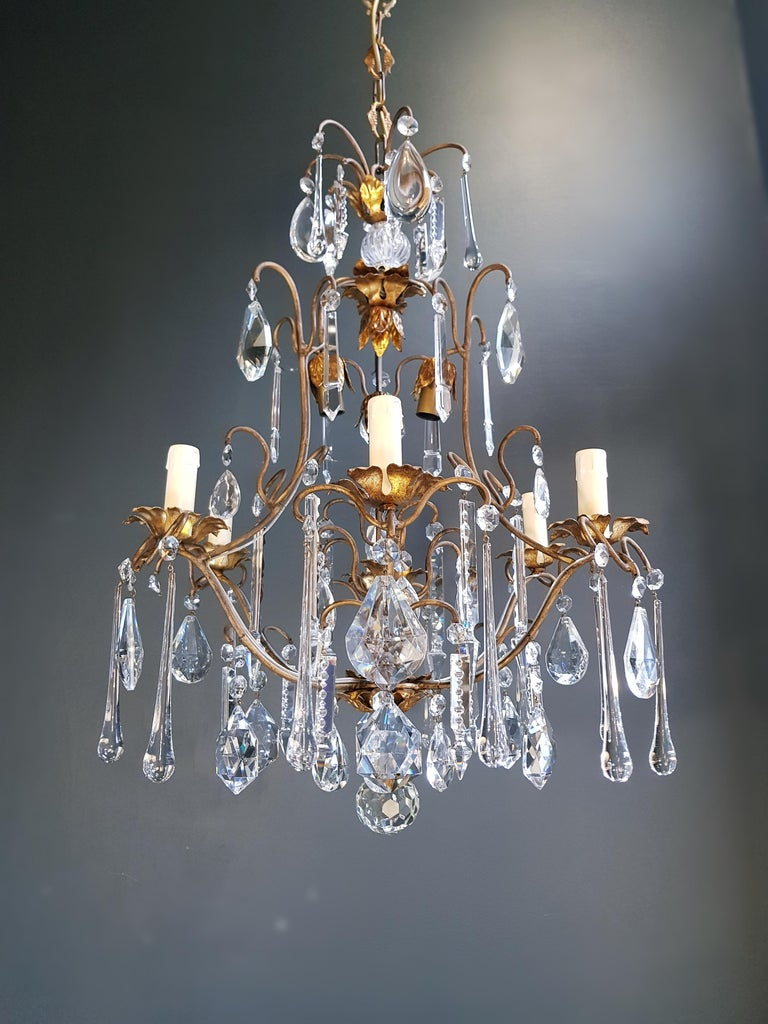 Candelabrum Chandelier Crystal Ceiling Lamp Antique Art Nouveau Pendant Lighting 11