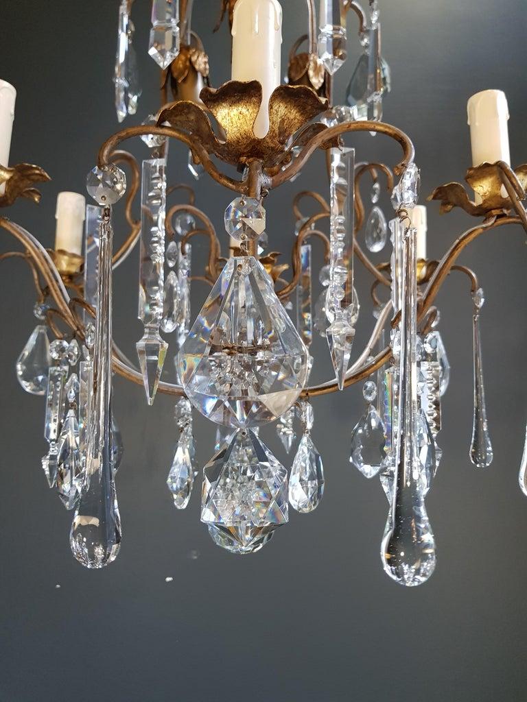 Candelabrum Chandelier Crystal Ceiling Lamp Antique Art Nouveau Pendant Lighting 3