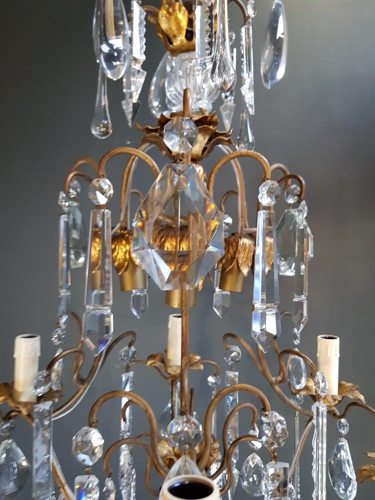 Candelabrum Chandelier Crystal Ceiling Lamp Antique Art Nouveau Pendant Lighting 4