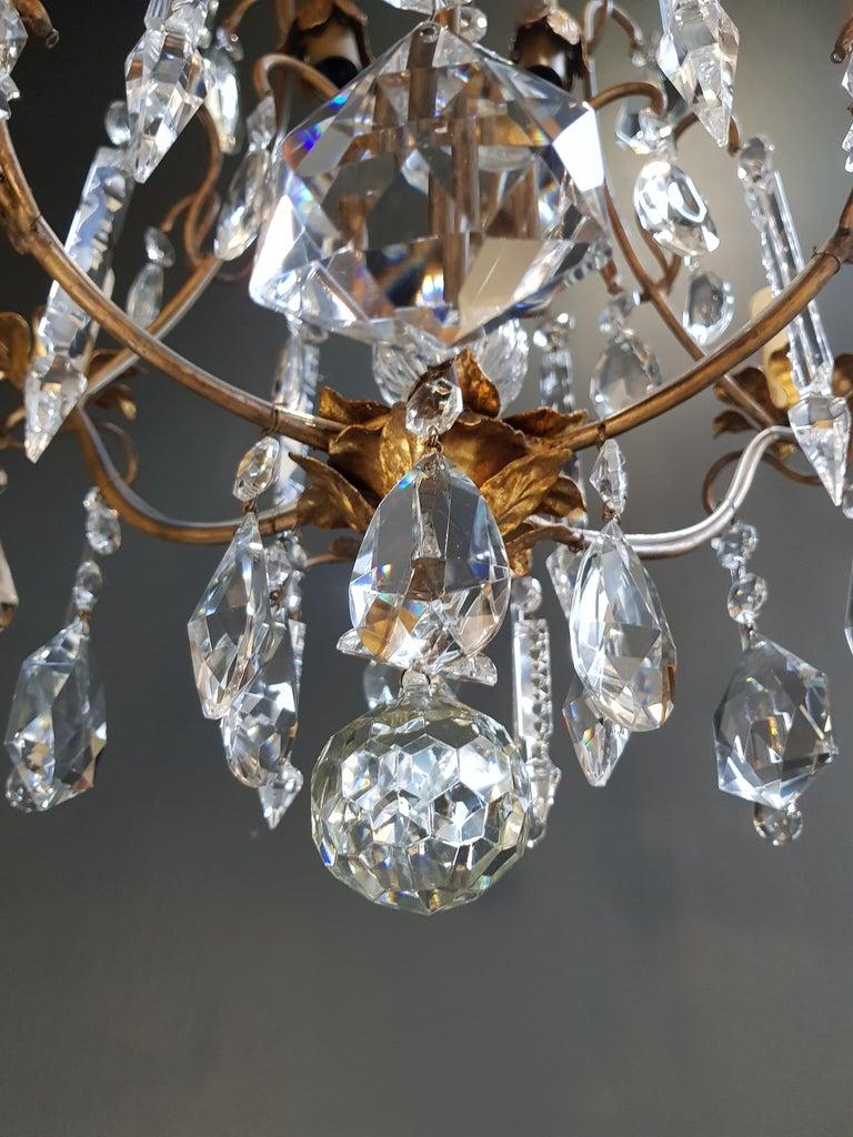 Candelabrum Chandelier Crystal Ceiling Lamp Antique Art Nouveau Pendant Lighting 7