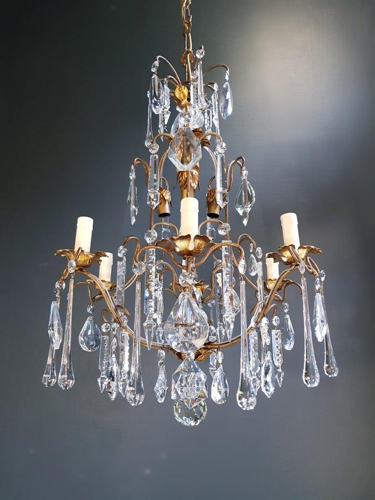 Candelabrum Chandelier Crystal Ceiling Lamp Antique Art Nouveau Pendant Lighting 8