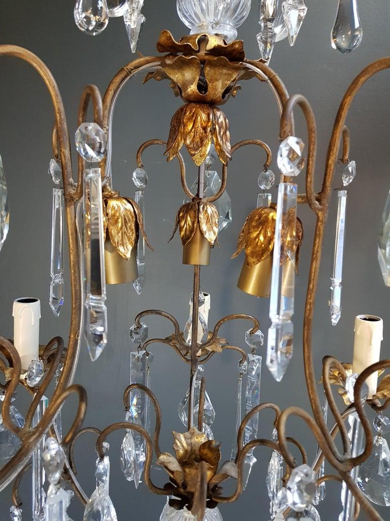 Candelabrum Chandelier Crystal Ceiling Lamp Antique Art Nouveau Pendant Lighting 9