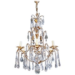 Candelabrum Chandelier Crystal Ceiling Lamp Antique Art Nouveau Pendant Lighting