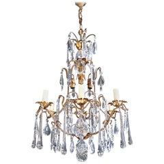Leuchter, Kronleuchter, Kristalldeckenlampe, Art Nouveau, hängende Beleuchtung