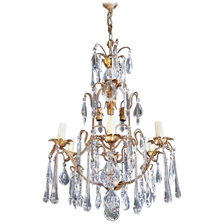 Candelabrum Chandelier Crystal Ceiling Lamp Antique Art Nouveau Pendant Lighting 1
