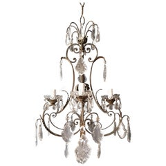 Candelabrum Chandelier Crystal Lustre Ceiling Lamp Hall Antique Art Nouveau