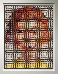 """Alfred E. Donuts"", photographic arrangement of 616 donuts, printed on rag paper"