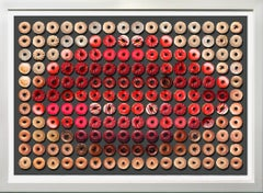 "Donut Kiss, 34x44"" framed size, One of a Kind Photographic Arrangement,"