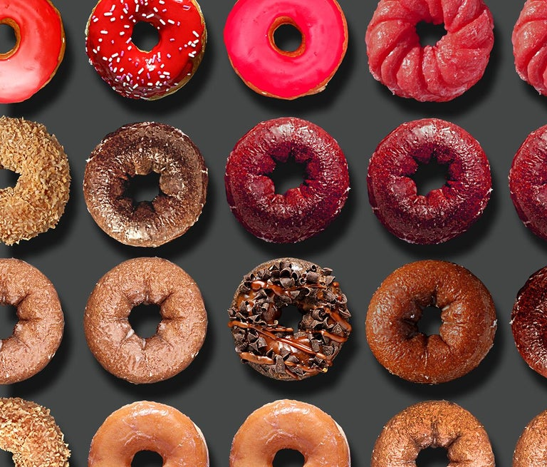 Donut Kiss, 41x55, One of a Kind Photographic Arrangement,  For Sale 2