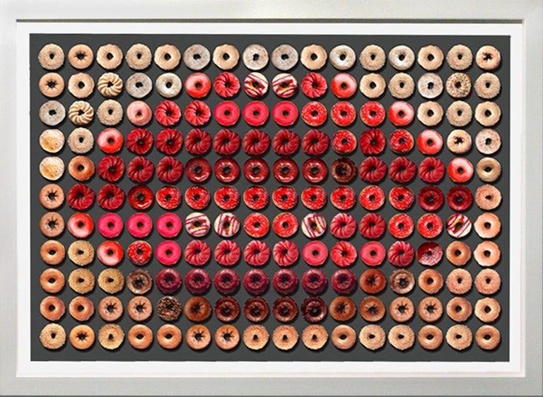 Candice CMC Portrait Photograph - Donut Kiss, 41x55, One of a Kind Photographic Arrangement,