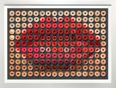 """Donut Kiss for Valentine's Day"" 30x40 framed Photographic arrangement of Donuts"