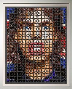 """Jagger Donuts"" Pop Art photographic arrangement of donuts, Rag paper 2020"