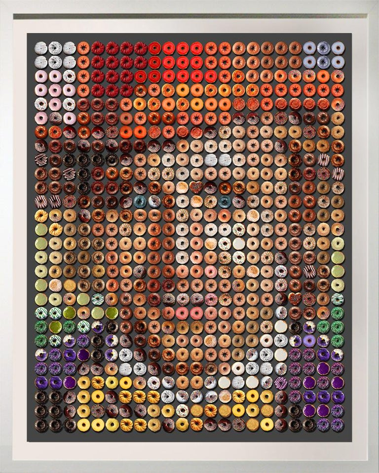 """Candice CMC Portrait Photograph - """"Large Wonka Donuts""""  61x50"""" one of a kind photographic arrangement on rag paper"""