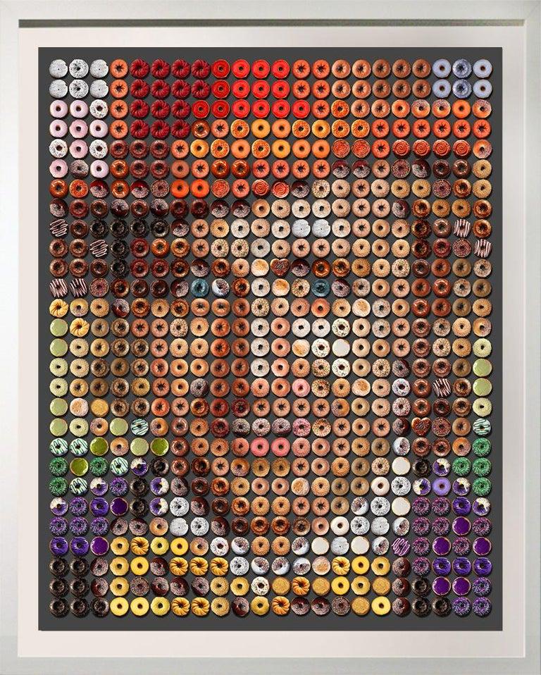 """Candice CMC Color Photograph - """"Large Wonka Donuts""""  61x50"""" pop art photographic arrangement portrait of donuts"""