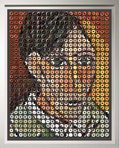 """Picasso Donuts"" Pop Art photo arrangement of donuts ... Picasso's self portrait"