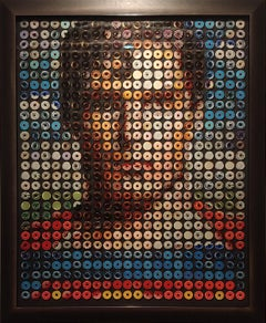 """""""Superman Donuts turning into Wonder Woman Donuts"""" Lenticular portrait"""