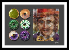 """Wonka Donuts with Half Dozen"" Photographic arrangement portrait with donuts"