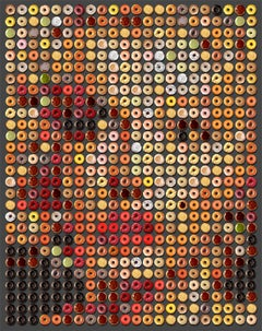 """""""Marilyn Donuts""""  One-of-a-kind photographic arrangement of Donuts on Rag paper"""
