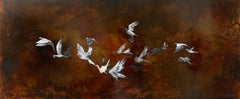 This Is Not a Flock of Birds, Original Painting