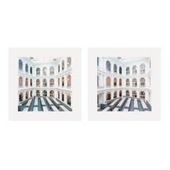University Library Hamburg A, Set of 2 C-Prints, Color Photography, 21st Century
