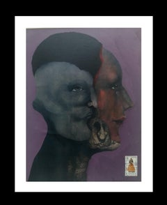 Personale original surrealist mixed media painting
