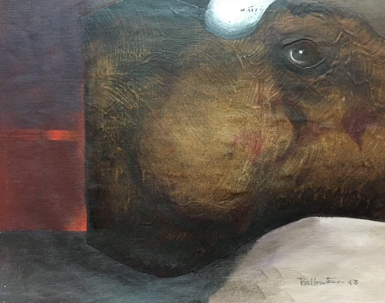 Sueño Original Magical Surrealism Mixed media paper painting - Painting by Candido Ballester