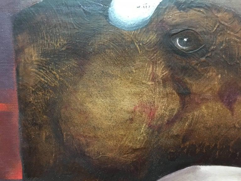 Sueño Original Magical Surrealism Mixed media paper painting For Sale 1