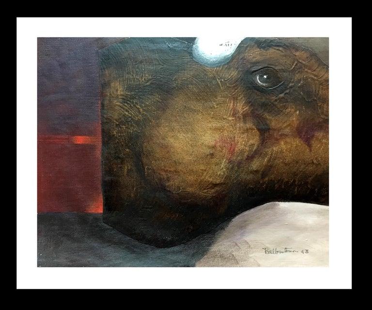 Candido Ballester Animal Painting - Sueño Original Magical Surrealism Mixed media paper painting