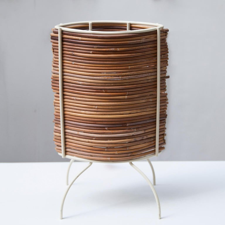 """Mid-Century Modern Candle """"Bambu"""" Table Lamp, Campana Brothers by Fontana Arte, 2000 For Sale"""