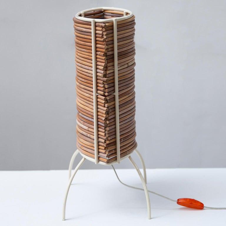 "Italian Candle ""Bambu"" Table Lamp, Campana Brothers by Fontana Arte, 2000 For Sale"