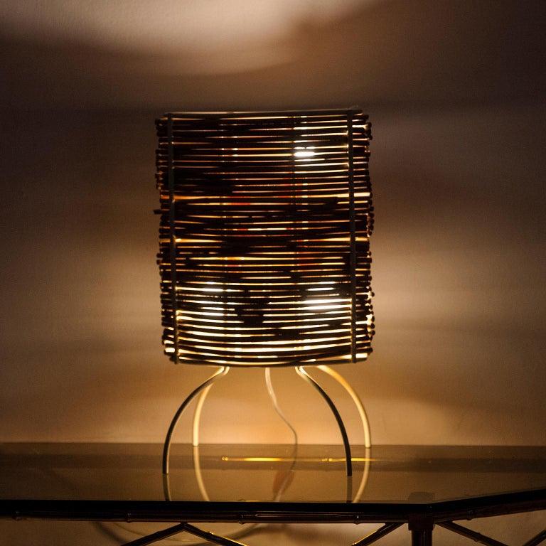 "Candle ""Bambu"" Table Lamp, Campana Brothers by Fontana Arte, 2000 For Sale 2"