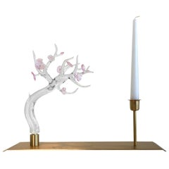 Candle Glass Sculpture, Designed by Simone Crestani, Made in Italy