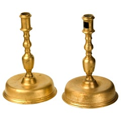 Candle Holders Pair, Bronze, 20th Century