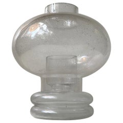 Candle Table Light in Blister Glass by Nanny Still, 1970s