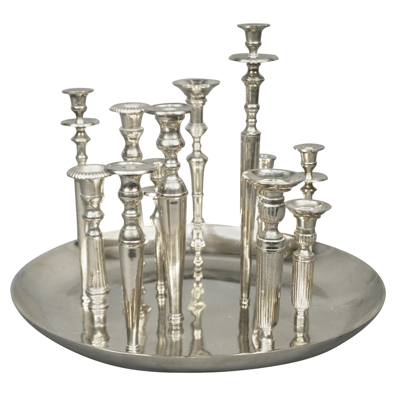 Candleholder Centerpiece, Italy, 1970s