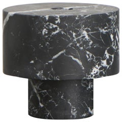 Candleholder in Black Marble, by Karen Chekerdjian, Made in Italy in Stock