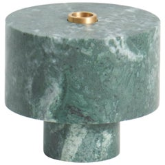Candleholder in Green Marble, by Karen Chekerdjian, Made in Italy