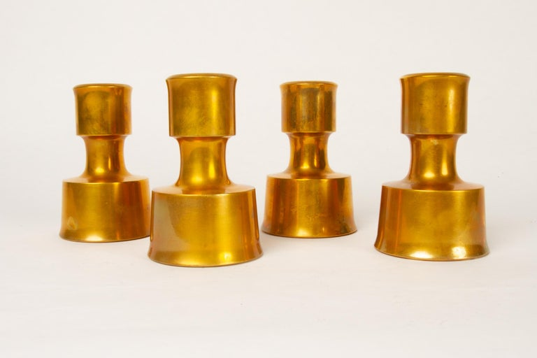 Candleholders by Jens H. Quistgaard for Dansk Designs 1960s set of 4