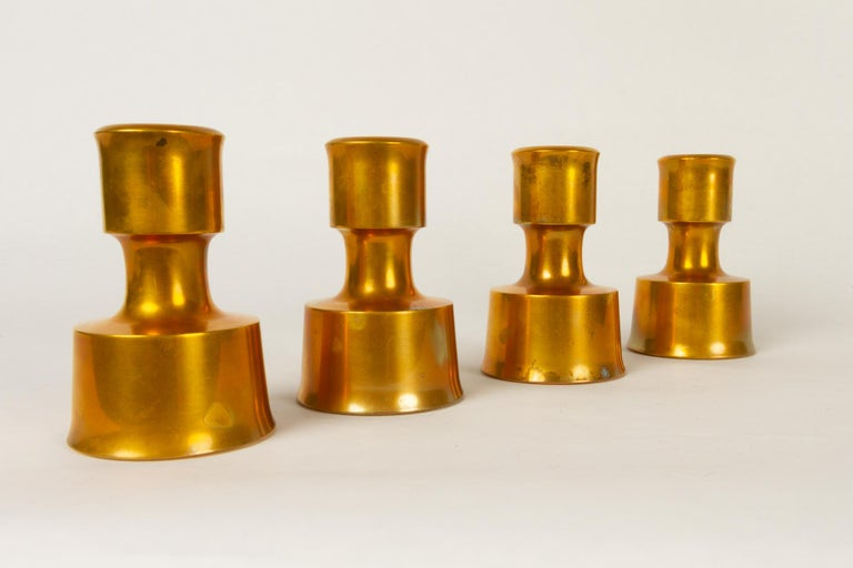 Mid-Century Modern Candleholders by Jens H. Quistgaard for Dansk Designs 1960s Set of 4 For Sale