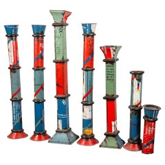 Candlesticks Made from Upcycled Metal, 20th Century