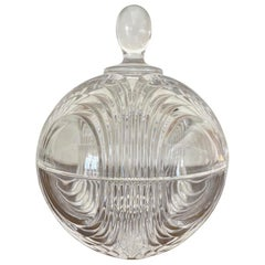 Mid Century Art Deco Candy Crystal Jar
