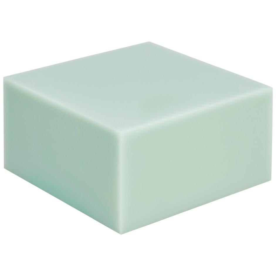 Contemporary Glossy Resin Side Table, Candy Cube by Sabine Marcelis, Mint, Low