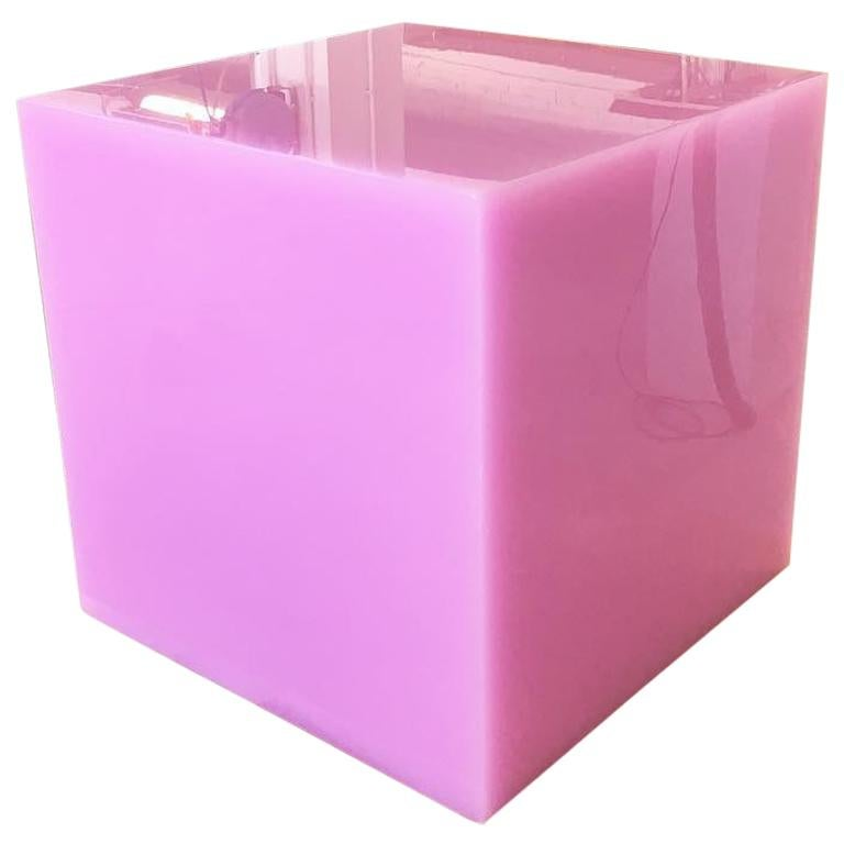 Contemporary Candy Cube Side Table by Sabine Marcelis, 'Hot Pink' Colour, 50 cm3