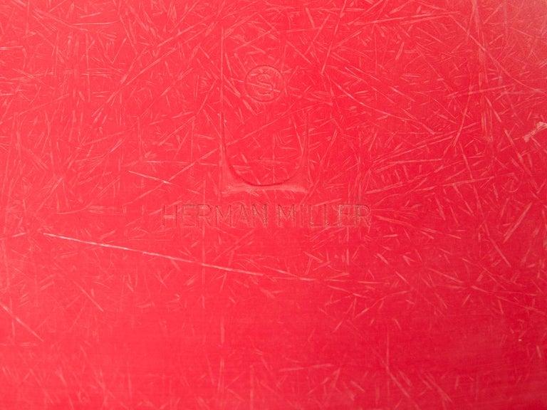 Eames for Herman Miller Crimson Red Fiberglass Shell Chair For Sale 1