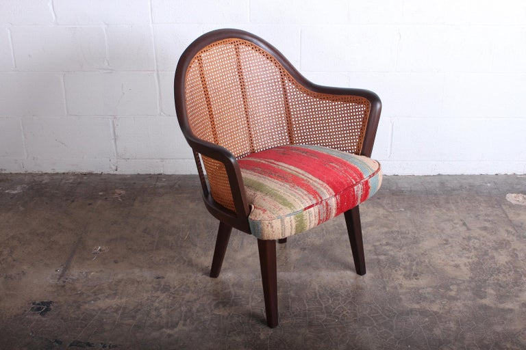 Cane Armchair Attributed to Harvey Probber In Good Condition For Sale In Dallas, TX